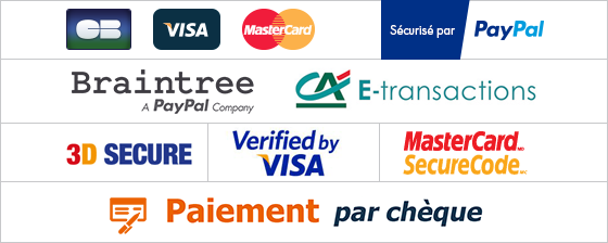 CB - Paypal - Mastercard - Visa - chèques - virements