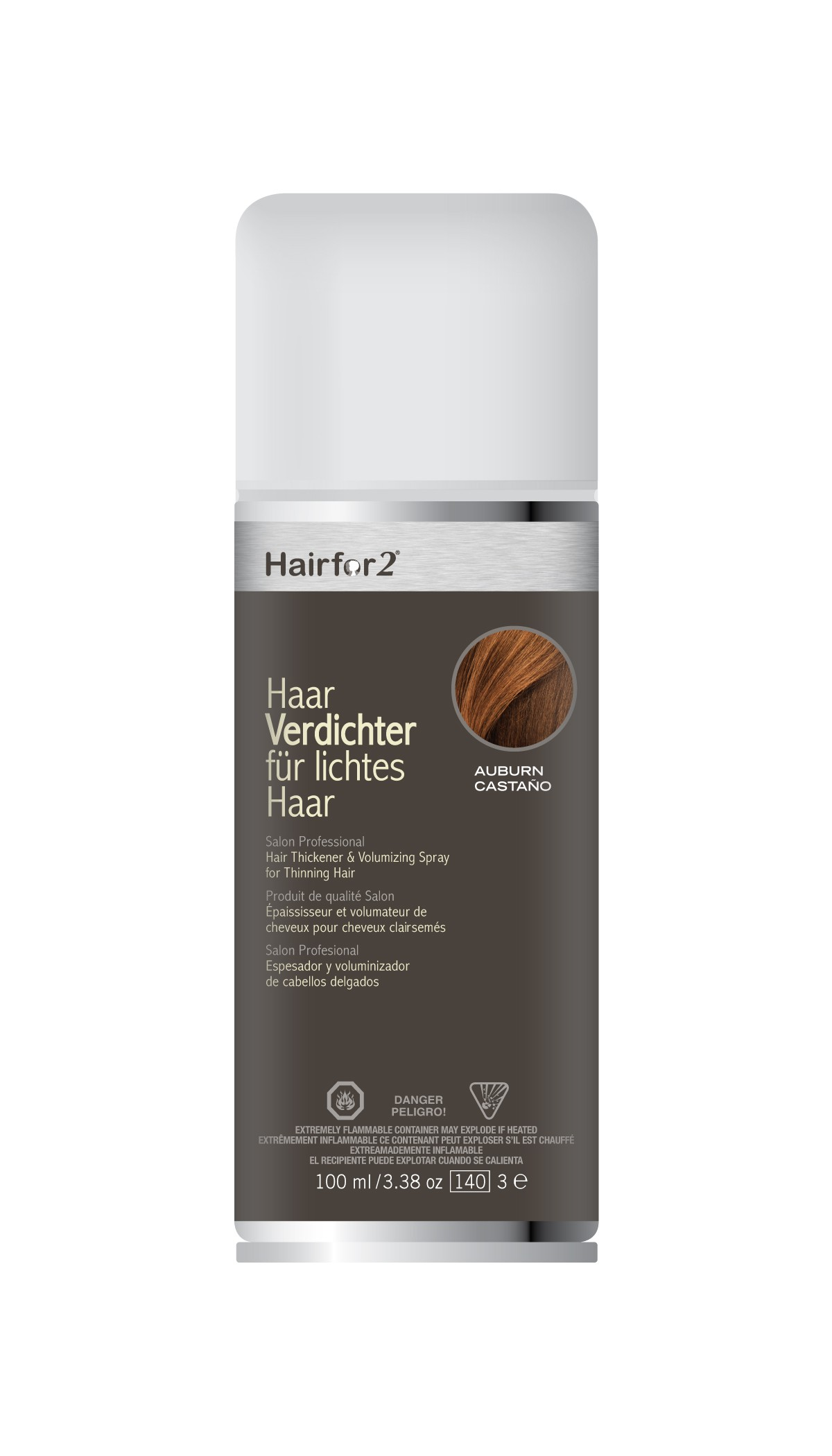HairFor2 100 ml, Densificateur capillaire Waterproof en Spray